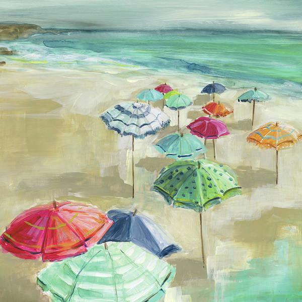 Umbrella Beach 1 by Carol Robinson