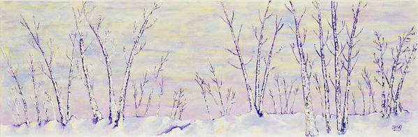 Opalescent Poster featuring the painting Opalescent Winter by Sharon Gill