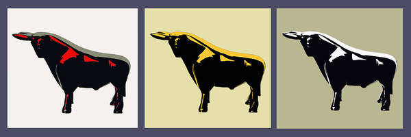 Bull Poster featuring the photograph 3 Bulls by Slade Roberts