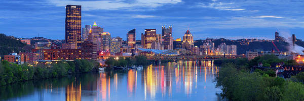 Steelers Poster featuring the photograph Pittsburgh Pano 13 by Emmanuel Panagiotakis