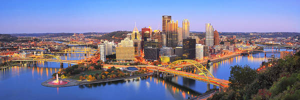 Steelers Poster featuring the photograph Pittsburgh Pano 22 by Emmanuel Panagiotakis