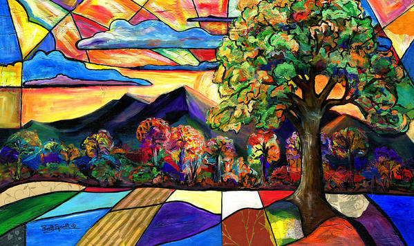 Everett Spruill Poster featuring the painting Autumn Sunrise by Everett Spruill