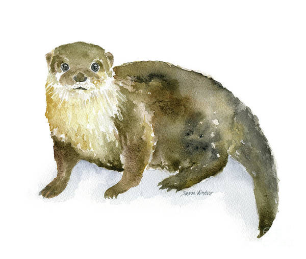 River Otter Watercolor by Susan Windsor