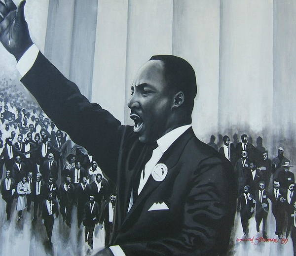 Martin Luther King Poster featuring the painting I Have A Dream by Howard Stroman