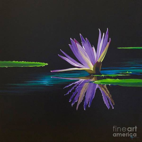 Waterlily Poster featuring the painting Lagan Love by Hunter Jay