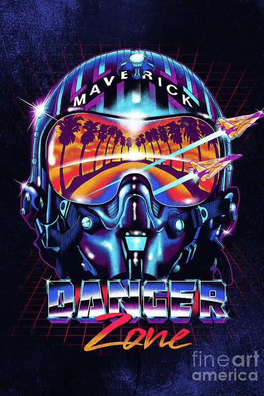 Danger Zone / Top Gun / Maverick / Pilot Helmet / Pop Culture / 1980s Movie / 80s by Zerobriant Designs