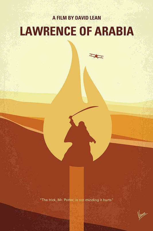 No772 My Lawrence of Arabia minimal movie poster by Chungkong Art