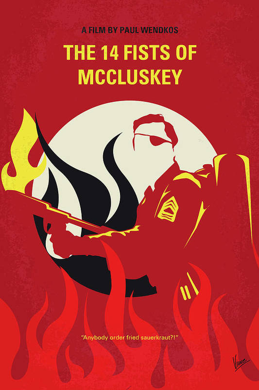 No1118 My The 14 Fists of McCluskey minimal movie poster by Chungkong Art