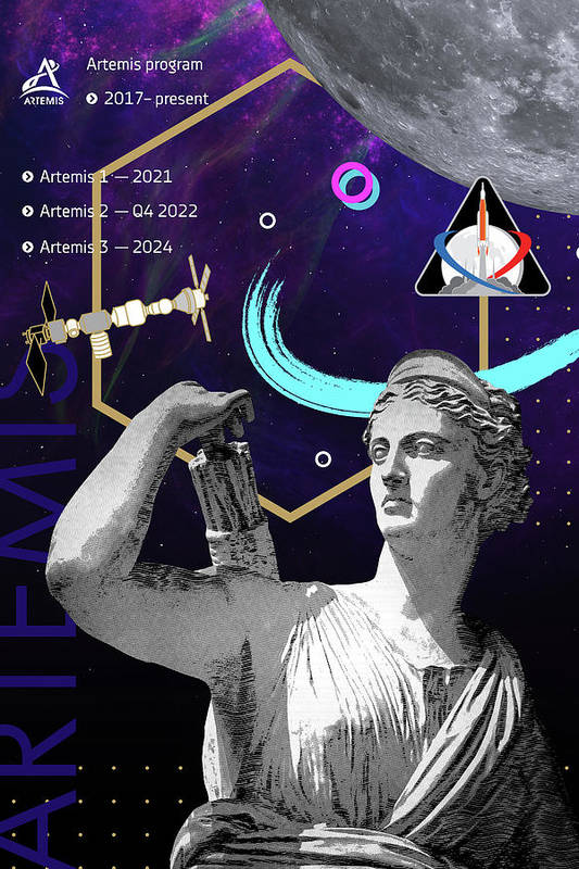 Ancient Gods and Planets - NASA Artemis program by Mike Airlino