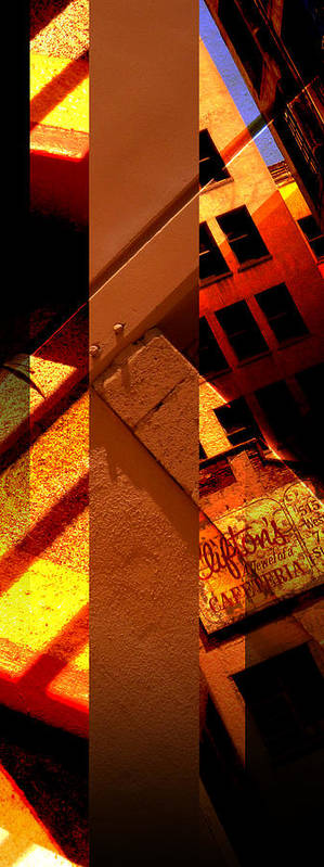 Merged Poster featuring the photograph Merged - Orange City by JBDSGND OsoPorto