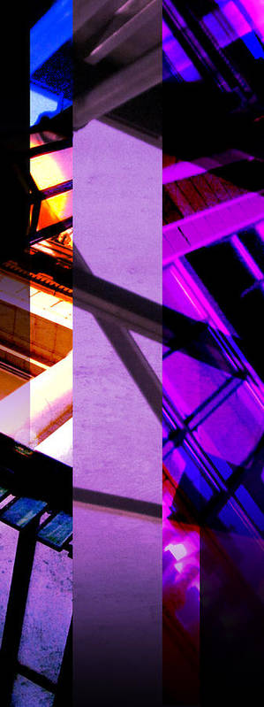 Merged Poster featuring the photograph Merged - Purple City by Jon Berry OsoPorto