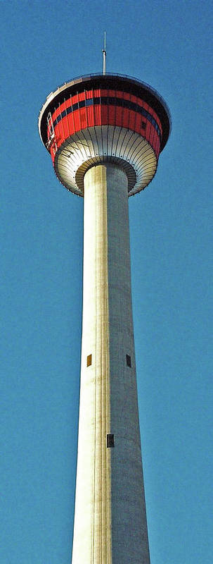 North America Poster featuring the photograph Calgary Tower by Juergen Weiss