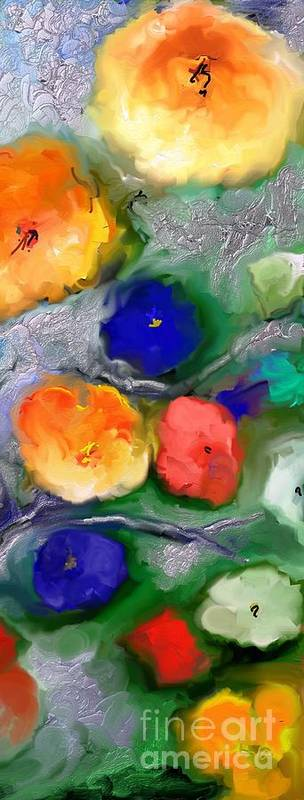 Impressionism.impressionism Poster featuring the painting Duo De Fleurs 2 by Aline Halle-Gilbert