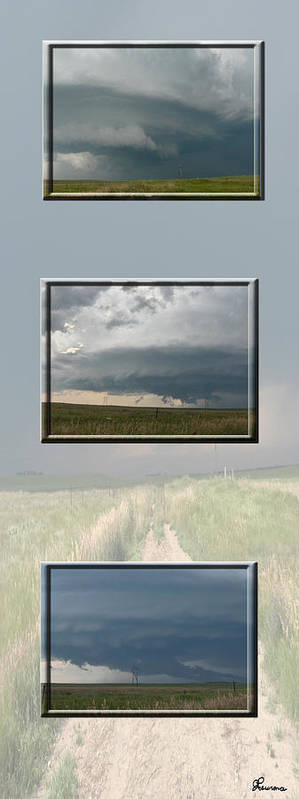 Tornado Strom Weather Rain Thunder Clouds Wind Poster featuring the photograph Storm Collection by Andrea Lawrence