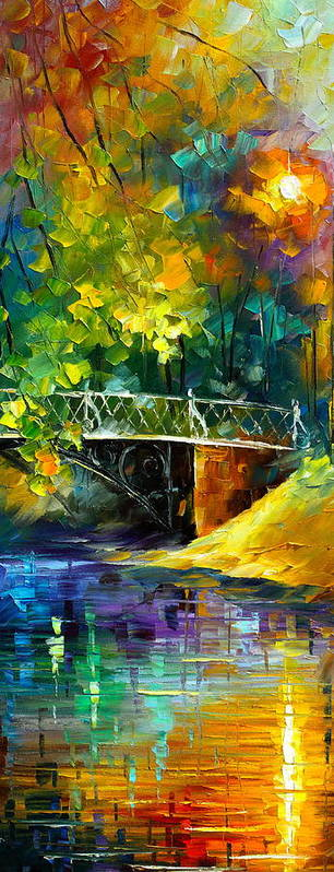 Afremov Poster featuring the painting Aura Of Autumn 3 by Leonid Afremov