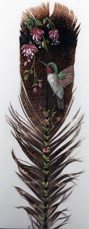Hummingbird Poster featuring the painting Hummingbird by Theresa Jefferson