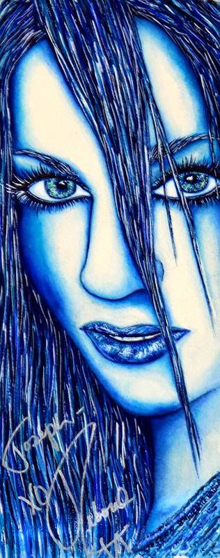 80's Poster featuring the mixed media Guess U Like Me In Blue by Joseph Lawrence Vasile