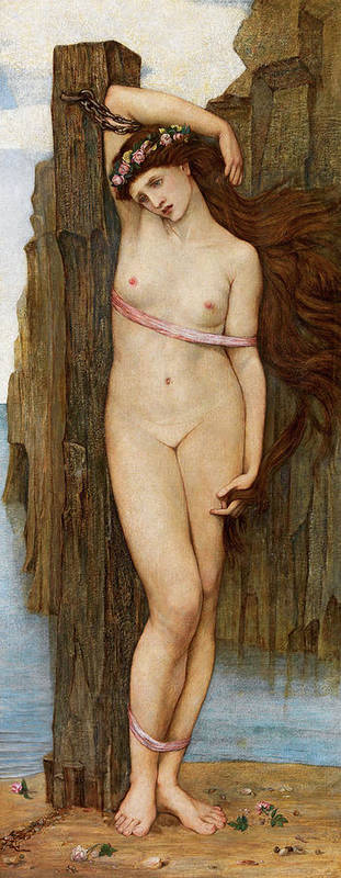 Stanhope Poster featuring the painting Andromeda by John Roddam Spencer Stanhope