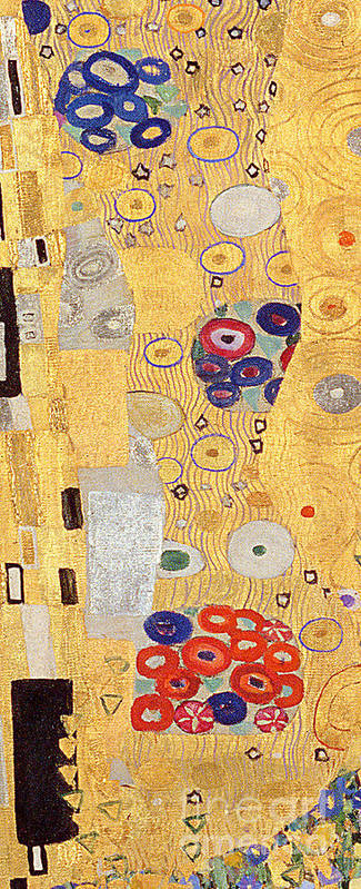 Gold Leaf Poster featuring the painting The Kiss by Gustav Klimt