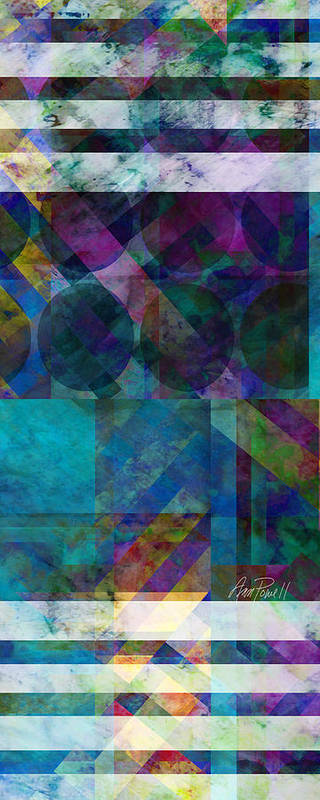 Abstract Poster featuring the digital art abstract - art - Stripes Five by Ann Powell
