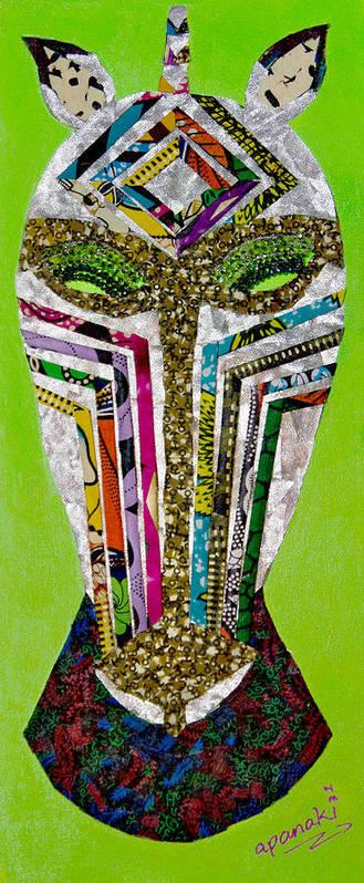 Zebra Poster featuring the tapestry - textile Punda Milia by Apanaki Temitayo M