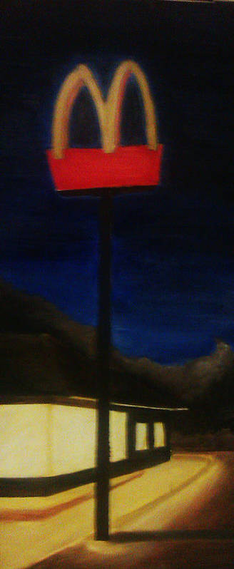 Light Poster featuring the painting Guiding Light by Jack Weyman