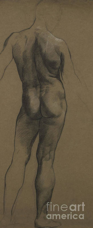 Nude Poster featuring the painting Male Nude Study by Evelyn De Morgan
