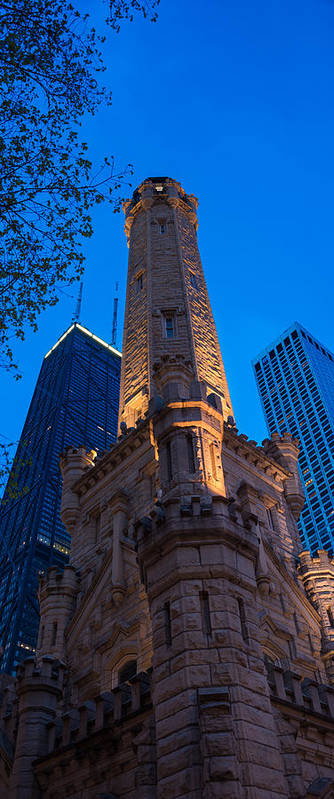 Chicago Poster featuring the photograph Chicago Water Tower Panorama by Steve Gadomski