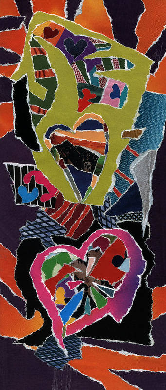 Love's It Poster featuring the mixed media Love's It by Kenneth James