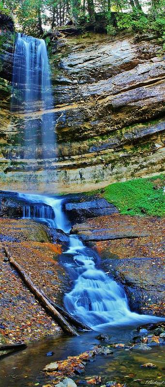 Burland Poster featuring the photograph Munising Falls by Burland McCormick