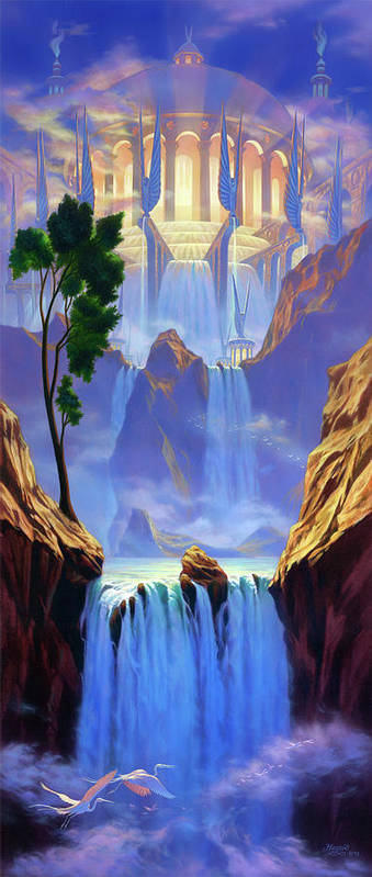 Jeff Haynie Poster featuring the painting Zion by Jeff Haynie