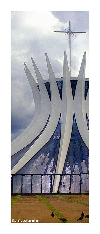 Brasilia Poster featuring the photograph Citymarks Brasilia by Roberto Alamino