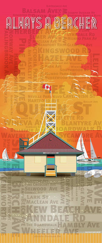 Toronto Poster featuring the digital art Always A Beacher by David Loblaw
