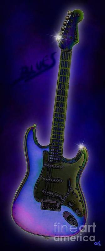 Blues Poster featuring the digital art Blues by Nick Gustafson