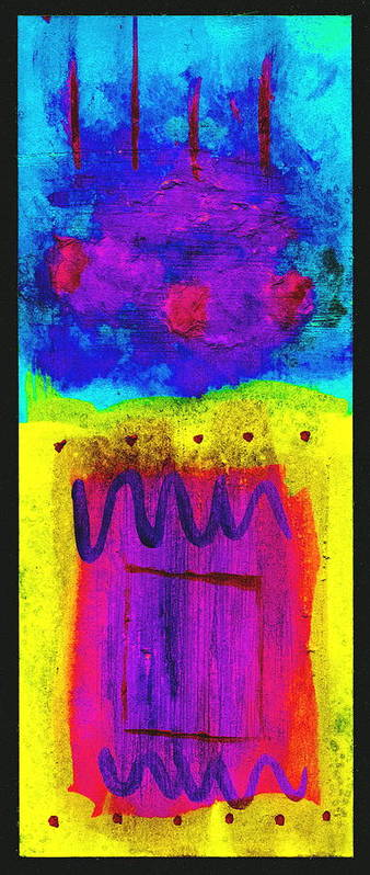 Abstract Poster featuring the painting I Feel The Thunder by Arnold Isbister