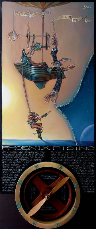 Propeller Poster featuring the painting Phoenix Rising by Patrick Anthony Pierson