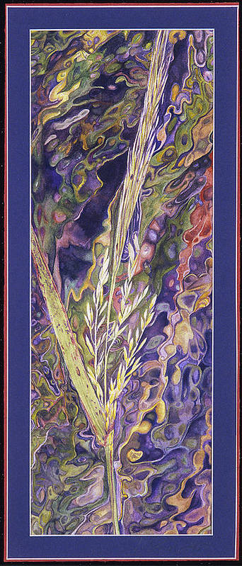 Watercolor Poster featuring the painting Texas Wild Rice by Nancy Ethiel
