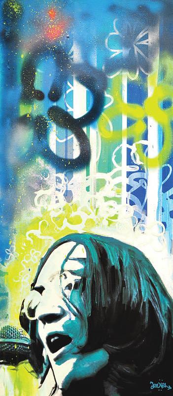 John Lennon Poster featuring the digital art Lennon by dreXeL