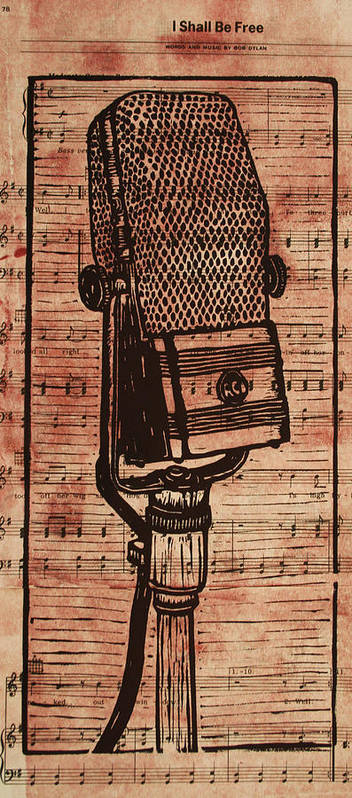 Rca Poster featuring the drawing Rca 44 On Music by William Cauthern