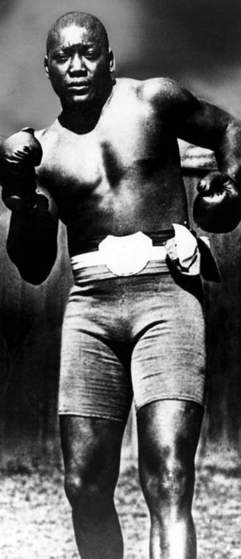 1910s Poster featuring the photograph Boxer Jack Johnson, Ca. 1910s by Everett
