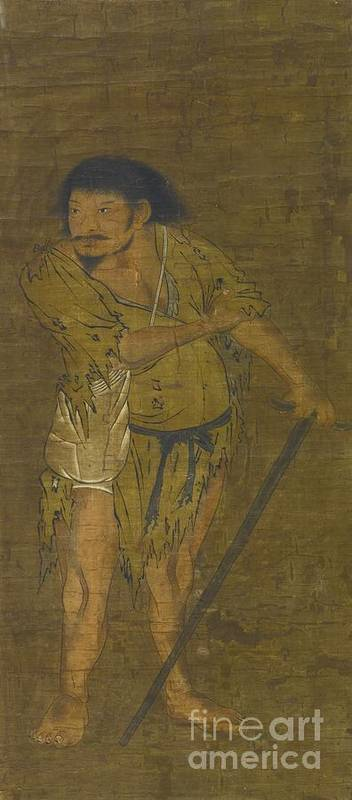Anonymous Li Tieguai Poster featuring the painting Li Tieguai by MotionAge Designs