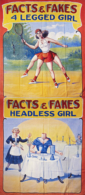 1970s Poster featuring the photograph Sideshow Poster, C1975 by Granger