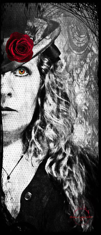 Vampire Poster featuring the photograph Victorian Lady Vampire by Absinthe Art By Michelle LeAnn Scott