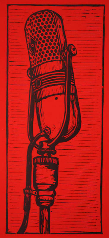 Rca Poster featuring the drawing Rca 77 by William Cauthern