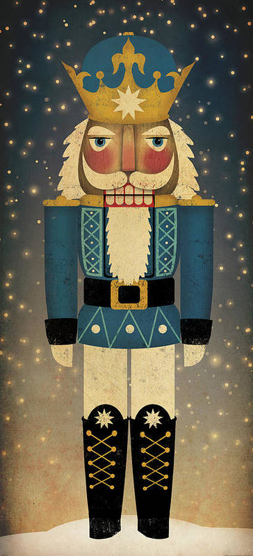 Christmas Poster featuring the painting Nutcracker by Ryan Fowler