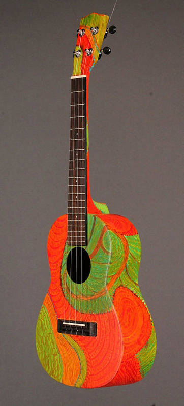 Pono Ukulele Poster featuring the painting Painted Tenor Uke by Jean Groberg