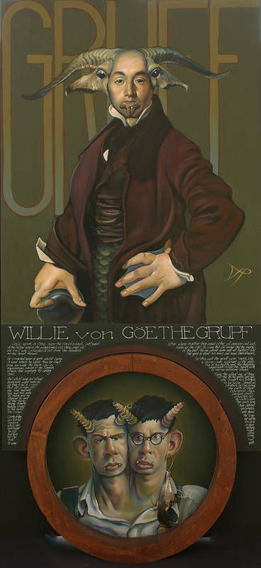 Goat Poster featuring the painting Willie Von Goethegrupf by Patrick Anthony Pierson