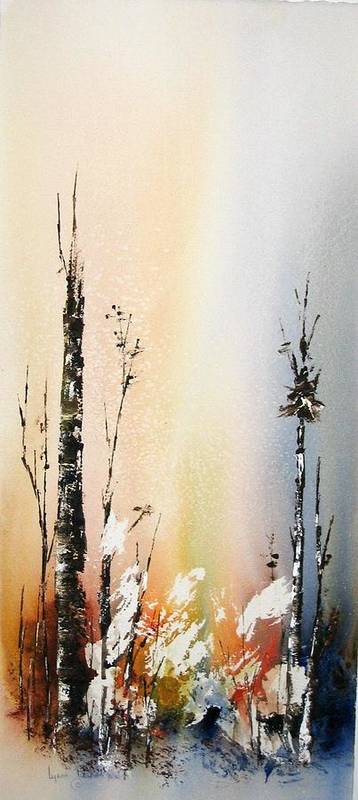 Snowey Scene Poster featuring the painting Cool Spring by Lynne Parker
