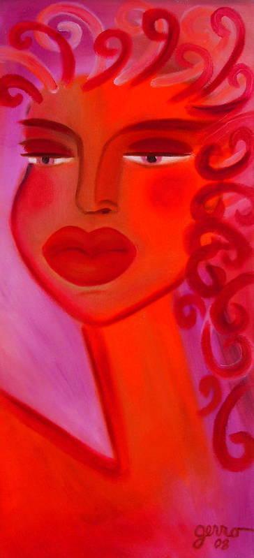 Women Artwork Poster featuring the painting Oprah by Helen Gerro