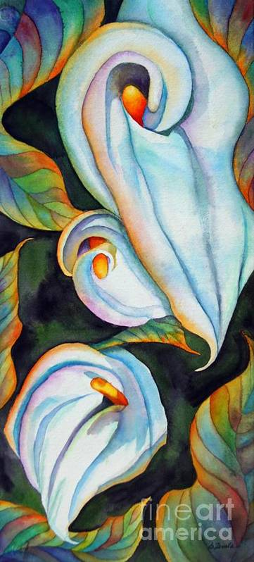 Floral Poster featuring the painting Soft Swirl by Gail Zavala